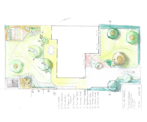 Les Jardins à l'Ancienne, Jardin contemporain, plan, Jardinier-Paysagiste, Nicolas Gobert, Viroflay