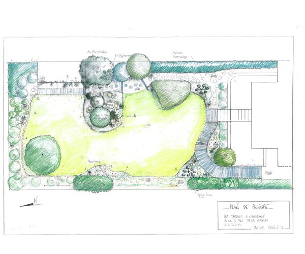 Les Jardins à l'Ancienne, Jardin japonais, plan