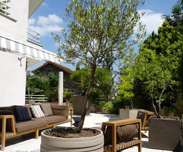Les Jardins à l'Ancienne, terrasse, poterie, plantes, espace repos, espace détente, jardin