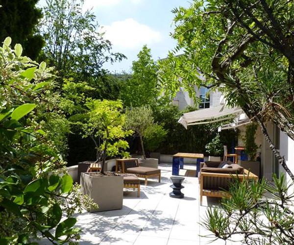 Les Jardins à l'Ancienne, terrasse, jardin, conception paysagère, nicolas gobert