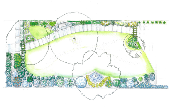 Jardin anglais les jardins l 39 ancienne viroflay 78 for Perspective jardin 78