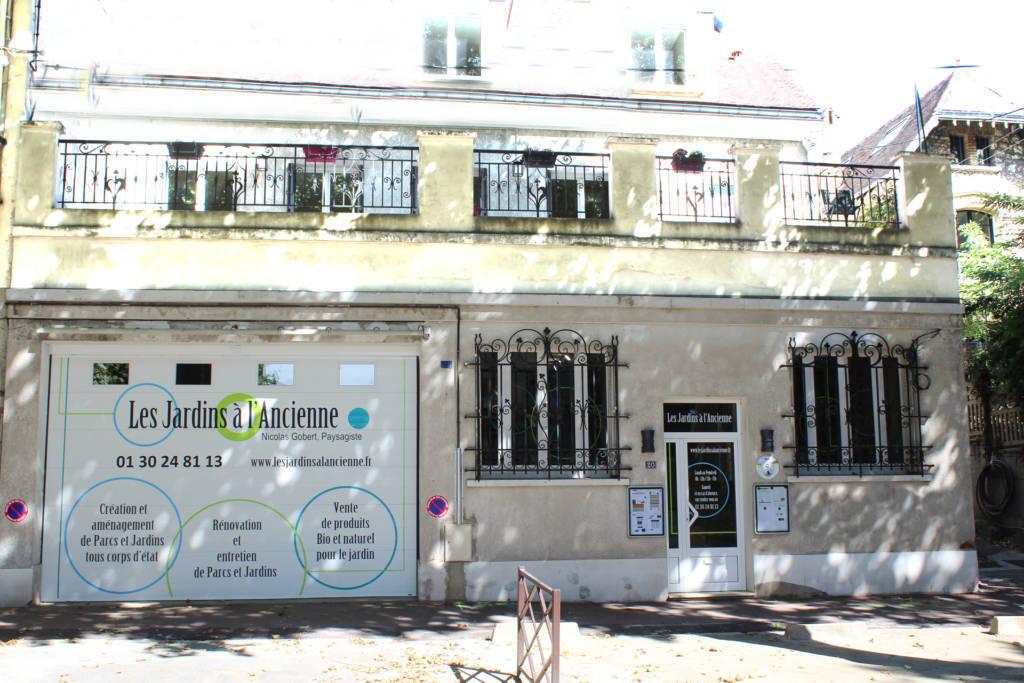 Les Jardins à l'Ancienne, bureaux, boutique, Viroflay, Nicolas Gobert