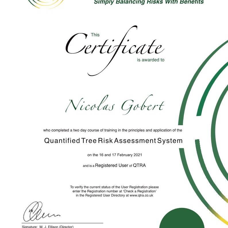 certificat QTRA